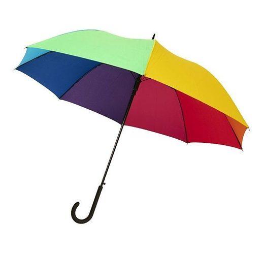 23-дюймовый ветрозащитный полуавтоматический зонт Sarah,  радужный