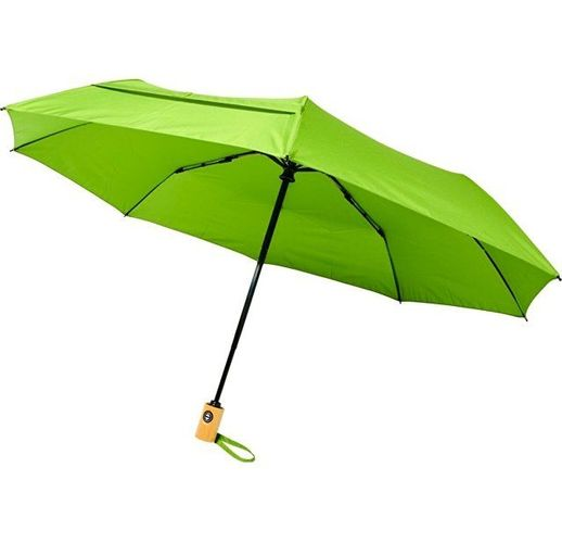 Автоматический складной зонт Bo из переработанного ПЭТ-пластика, лайм