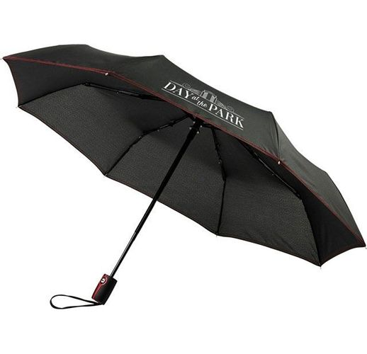 Автоматический складной зонт Stark-mini, черный/красный