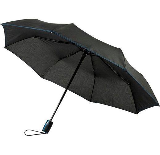 Автоматический складной зонт Stark-mini, черный/process blue