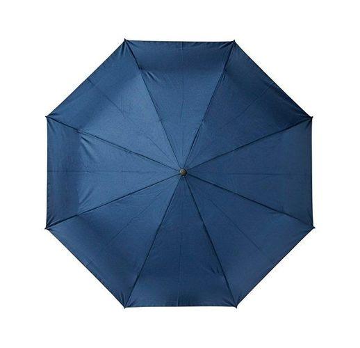 23-дюймовый автоматический зонт Alina из переработанного ПЭТ-пластика, темно-синий