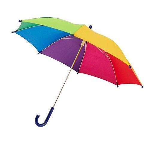Детский 17-дюймовый ветрозащитный зонт Nina,  радужный