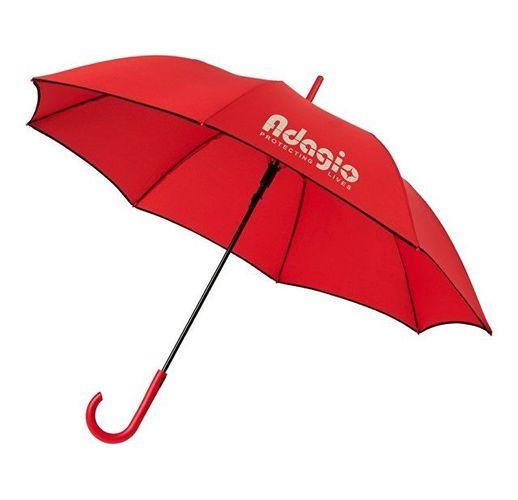 Ветрозащитный автоматический цветной зонт Kaia 23, красный