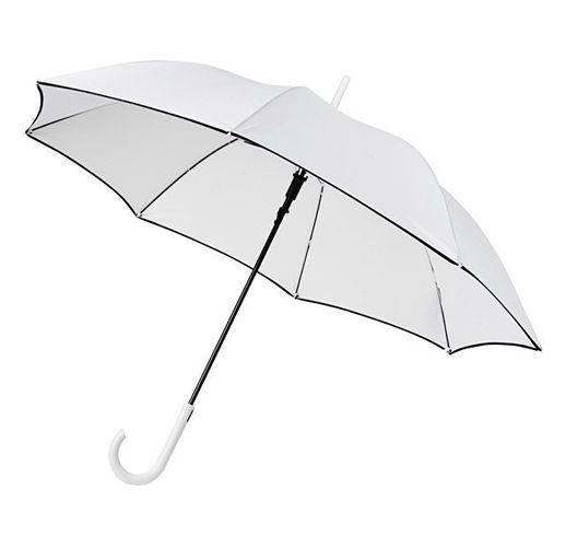 Ветрозащитный автоматический цветной зонт Kaia 23, белый