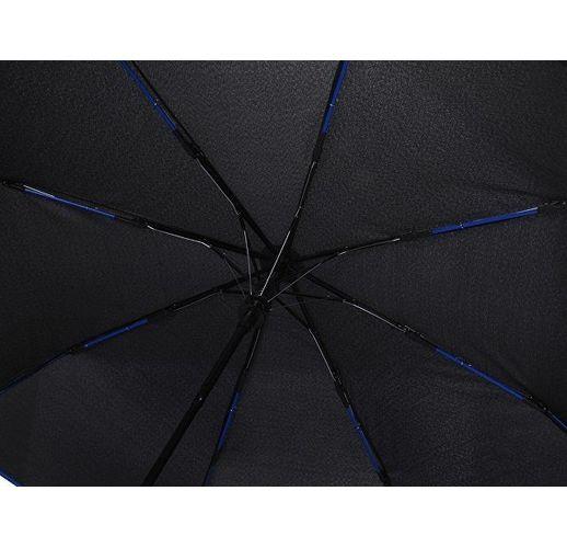 Зонт-полуавтомат складной Motley с цветными спицами, синий
