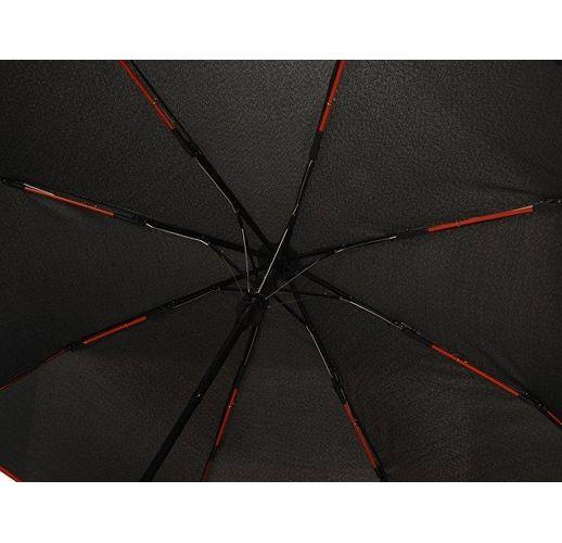 Зонт-полуавтомат складной Motley с цветными спицами, красный