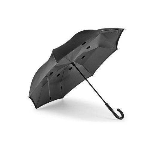 ANGELA. Зонт обратного сложения, Серый