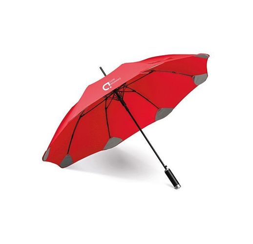 PULLA. Зонт с автоматическим открытием, Красный