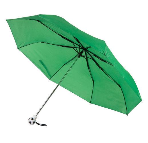 Зонт складной FOOTBALL, механический, зеленый