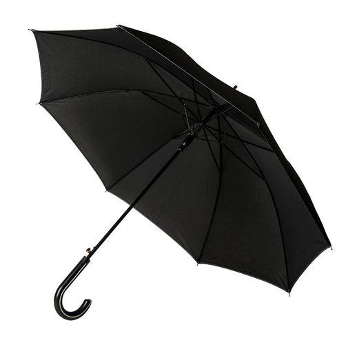 Зонт-трость OXFORD с ручкой из искусственной кожи,полуавтомат, 100% полиэстер