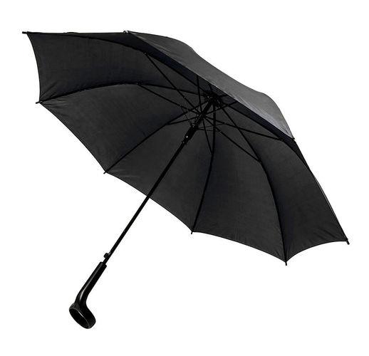 Зонт-трость LIVERPOOL с ручкой-держателем,полуавтомат, 100% полиэстер, пластик