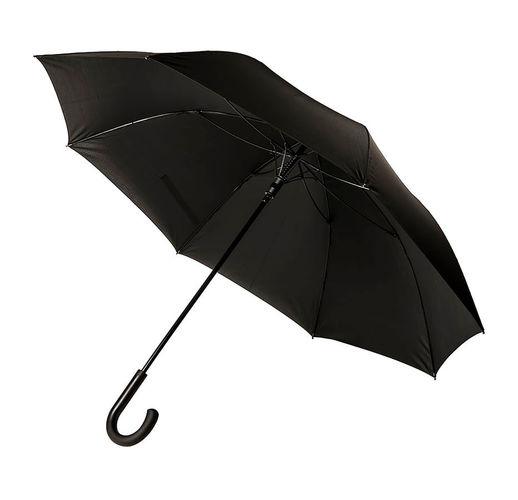 Зонт-трость CAMBRIDGE с ручкой soft-touch, полуавтомат, 100% полиэстер, пластик