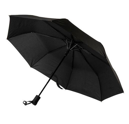 Зонт MANCHESTER складной, полуавтомат; черный; D=100 см; 100% полиэстер