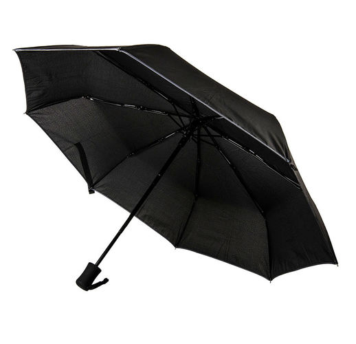 Зонт LONDON складной, автомат; черный; D=100 см; 100% полиэстер