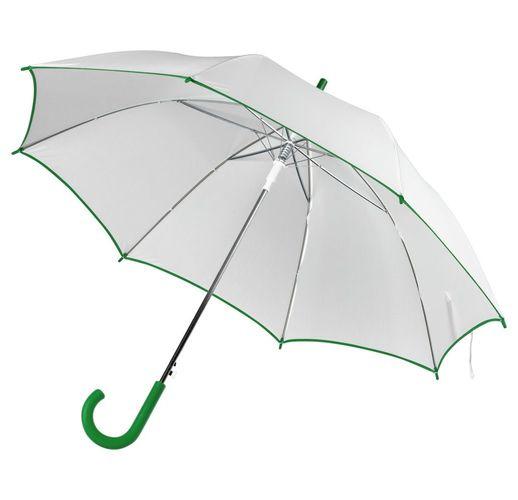 Зонт-трость Unit White, белый с зеленым