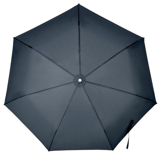 Складной зонт Alu Drop S, 3 сложения, 7 спиц, автомат, синий