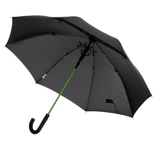 Зонт-трость с цветными спицами Color Power, зеленое яблоко