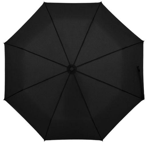 Зонт складной Clevis с ручкой-карабином, черный