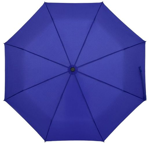 Зонт складной Clevis с ручкой-карабином, ярко-синий
