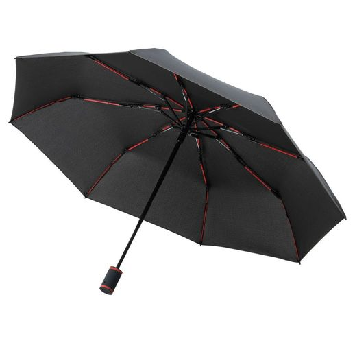 Зонт складной AOC Mini с цветными спицами ver.2, красный