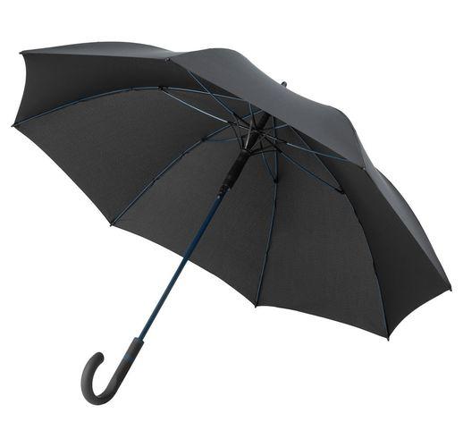 Зонт-трость с цветными спицами Color Style ver.2, синий с черной ручкой
