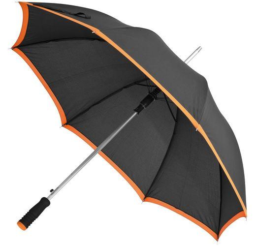 Зонт-трость Highlight, черный с оранжевым