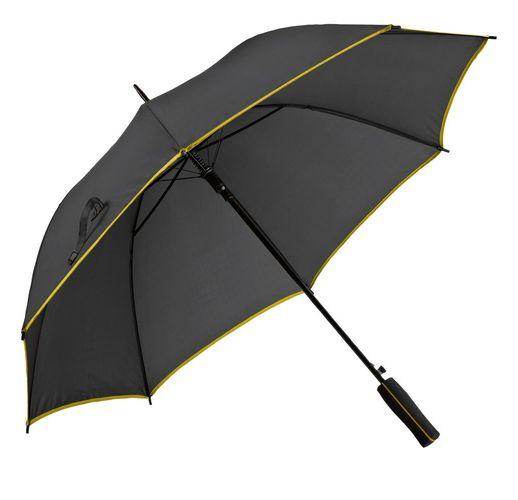 Зонт-трость Jenna, черный с желтым