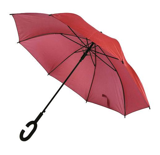 Зонт-трость HALRUM,  полуавтомат, красный, D=105 см, нейлон, пластик