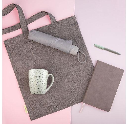 Набор подарочный DUSTYROSE: кружка, ручка, зонт, бизнес-блокнот, сумка, серый/светло-зеленый