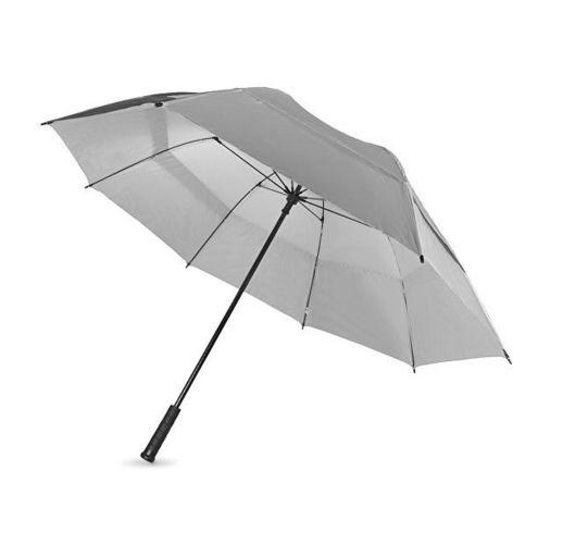 Зонт трость Cardiff, механический 30, серебристый