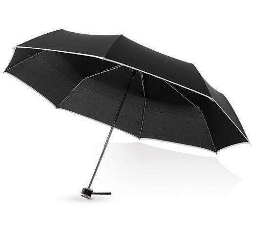 Зонт складной Линц, механический 21, черный