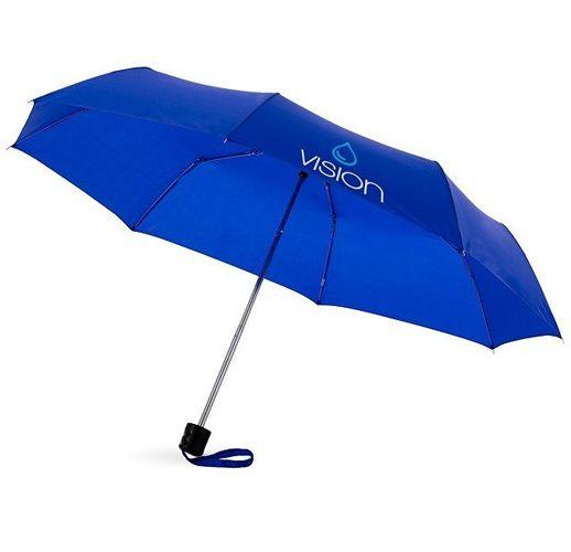 Зонт Ida трехсекционный 21,5, ярко-синий