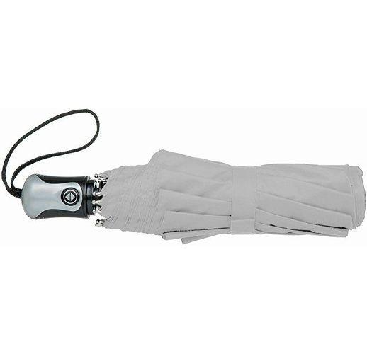 Зонт Alex трехсекционный автоматический 21,5, серебристый/черный