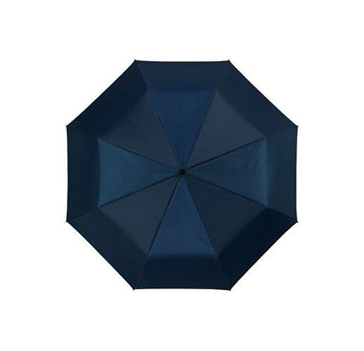 Зонт Alex трехсекционный автоматический 21,5, темно-синий/серебристый