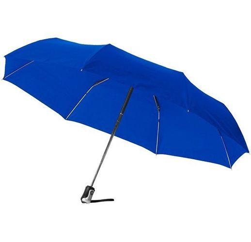 Зонт Alex трехсекционный автоматический 21,5, ярко-синий