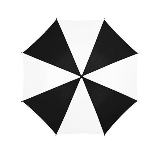 Зонт Barry 23 полуавтоматический, черный/белый