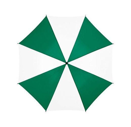 Зонт Barry 23 полуавтоматический, зеленый/белый