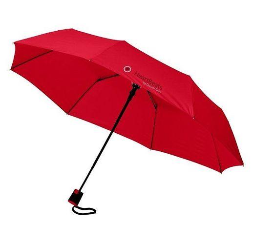 Зонт Wali полуавтомат 21, красный