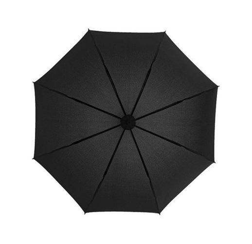 Зонт трость Spark полуавтомат 23, черный/синий