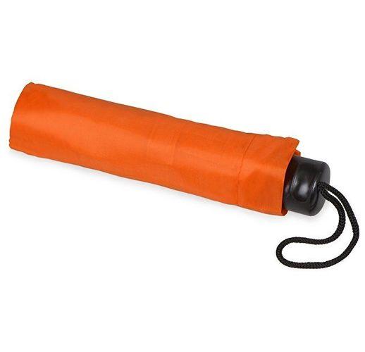 Зонт складной Columbus, механический, 3 сложения, с чехлом, оранжевый