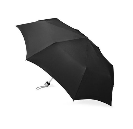 Зонт складной Tempe, механический, 3 сложения, с чехлом, черный