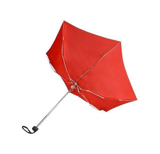 Зонт складной Frisco, механический, 5 сложений, в футляре, красный
