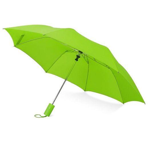 Зонт складной Tulsa, полуавтоматический, 2 сложения, с чехлом, зеленое яблоко