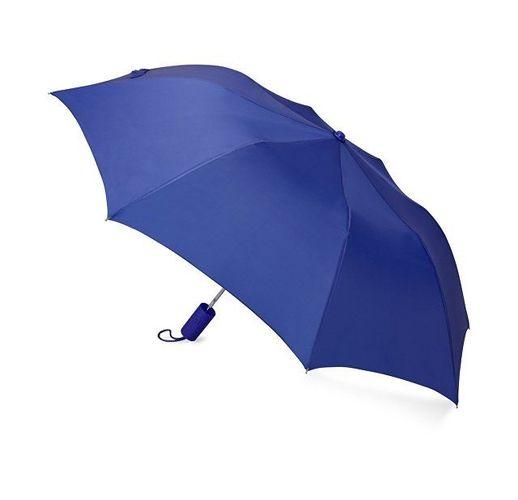 Зонт складной Tulsa, полуавтоматический, 2 сложения, с чехлом, синий
