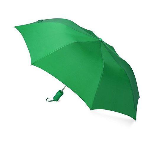 Зонт складной Tulsa, полуавтоматический, 2 сложения, с чехлом, зеленый