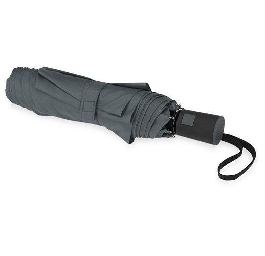 Зонт складной Irvine, полуавтоматический, 3 сложения, с чехлом, серый
