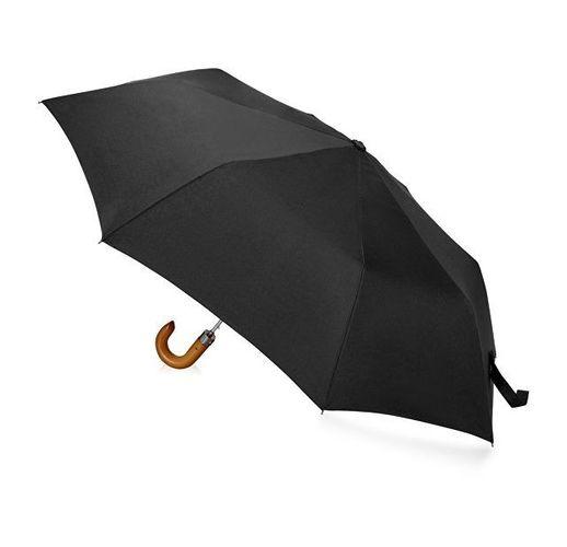 Зонт складной Cary, полуавтоматический, 3 сложения, с чехлом, черный
