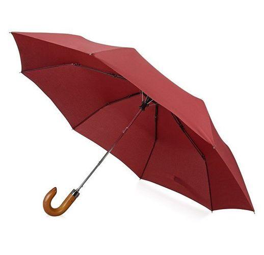Зонт складной Cary, полуавтоматический, 3 сложения, с чехлом, бордовый