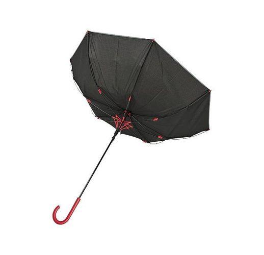 23-дюймовый ветрозащитный полуавтоматический зонт Felice, красный