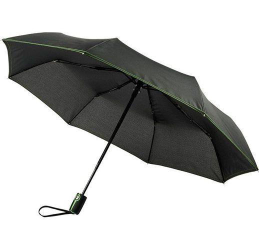 Автоматический складной зонт Stark-mini, черный/лайм